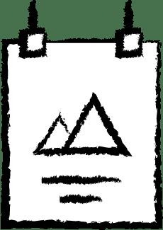 Tidssluger - Plakat Ikon Hvid