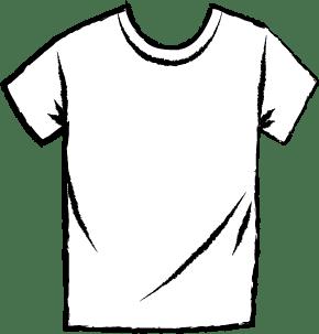 T-shirt Ikon Hvid stor knap